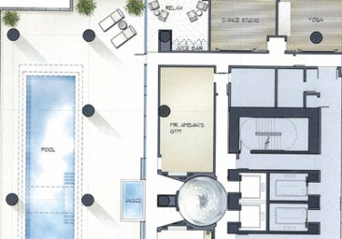 Floor Plan of Health Level at Antilla